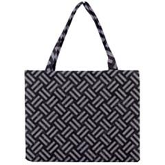 Woven2 Black Marble & Gray Colored Pencil Mini Tote Bag