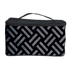 Woven2 Black Marble & Gray Colored Pencil Cosmetic Storage Case