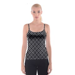 Woven2 Black Marble & Gray Colored Pencil Spaghetti Strap Top