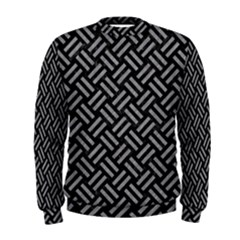 Woven2 Black Marble & Gray Colored Pencil Men s Sweatshirt