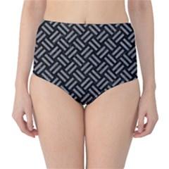 Woven2 Black Marble & Gray Colored Pencil High Waist Bikini Bottoms