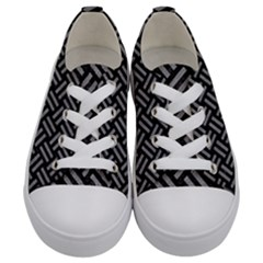 Woven2 Black Marble & Gray Colored Pencil Kids  Low Top Canvas Sneakers