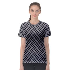 Woven2 Black Marble & Gray Colored Pencil (r) Women s Sport Mesh Tee