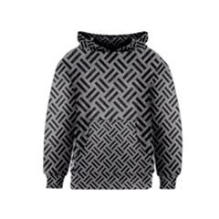 Woven2 Black Marble & Gray Colored Pencil (r) Kids  Pullover Hoodie