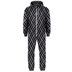 Woven2 Black Marble & Gray Colored Pencil (r) Hooded Jumpsuit (men)