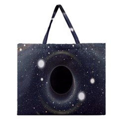 Brightest Cluster Galaxies And Supermassive Black Holes Zipper Large Tote Bag
