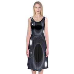 Brightest Cluster Galaxies And Supermassive Black Holes Midi Sleeveless Dress
