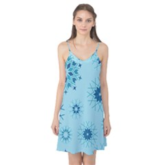 Blue Winter Snowflakes Star Camis Nightgown