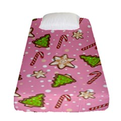 Ginger Cookies Christmas Pattern Fitted Sheet (single Size)