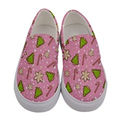 Ginger Cookies Christmas Pattern Women s Canvas Slip Ons