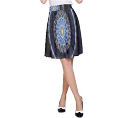 Colorful Hypnotic Circular Rings Space A Line Skirt
