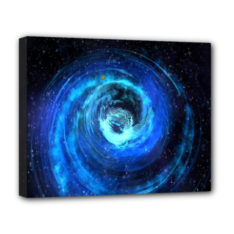 Blue Black Hole Galaxy Deluxe Canvas 20  X 16