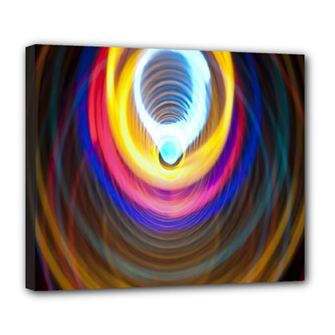 Colorful Glow Hole Space Rainbow Deluxe Canvas 24  X 20