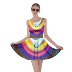 Colorful Glow Hole Space Rainbow Skater Dress