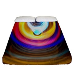 Colorful Glow Hole Space Rainbow Fitted Sheet (queen Size)