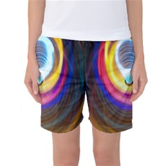 Colorful Glow Hole Space Rainbow Women s Basketball Shorts