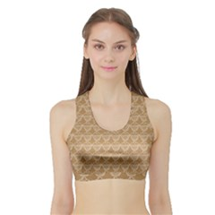 Cake Brown Sweet Sports Bra With Border