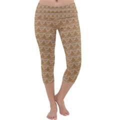 Cake Brown Sweet Capri Yoga Leggings