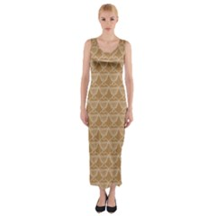 Cake Brown Sweet Fitted Maxi Dress