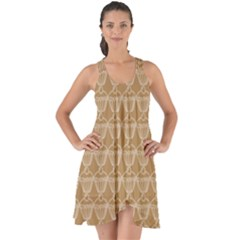 Cake Brown Sweet Show Some Back Chiffon Dress