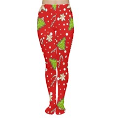 Ginger Cookies Christmas Pattern Women s Tights
