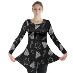 Ginger Cookies Christmas Pattern Long Sleeve Tunic