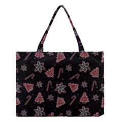 Ginger Cookies Christmas Pattern Medium Tote Bag