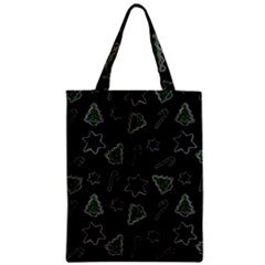Ginger Cookies Christmas Pattern Zipper Classic Tote Bag