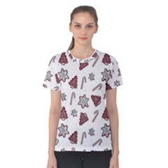 Ginger Cookies Christmas Pattern Women s Cotton Tee