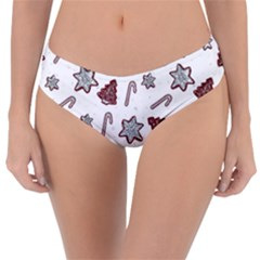 Ginger Cookies Christmas Pattern Reversible Classic Bikini Bottoms
