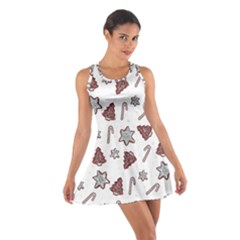 Ginger Cookies Christmas Pattern Cotton Racerback Dress