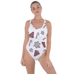 Ginger Cookies Christmas Pattern Bring Sexy Back Swimsuit