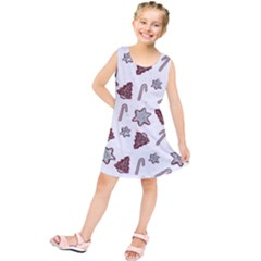 Ginger Cookies Christmas Pattern Kids  Tunic Dress