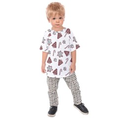 Ginger Cookies Christmas Pattern Kids Raglan Tee