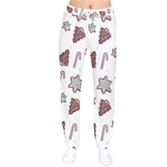 Ginger Cookies Christmas Pattern Drawstring Pants