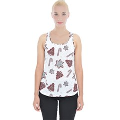 Ginger Cookies Christmas Pattern Piece Up Tank Top
