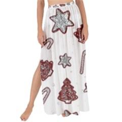 Ginger Cookies Christmas Pattern Maxi Chiffon Tie Up Sarong