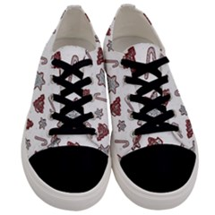 Ginger Cookies Christmas Pattern Men s Low Top Canvas Sneakers
