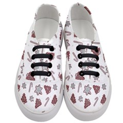 Ginger Cookies Christmas Pattern Women s Classic Low Top Sneakers