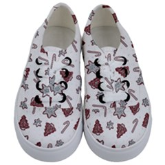 Ginger Cookies Christmas Pattern Kids  Classic Low Top Sneakers