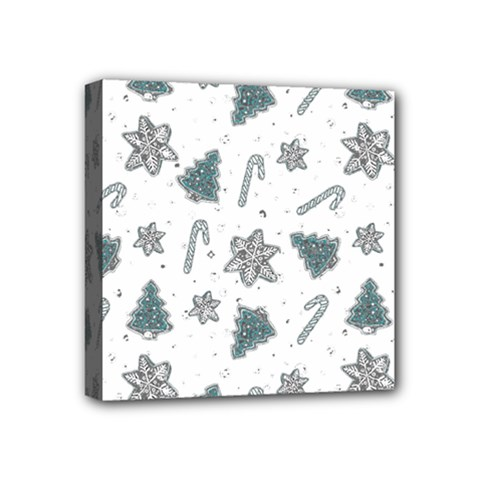 Ginger Cookies Christmas Pattern Mini Canvas 4  X 4