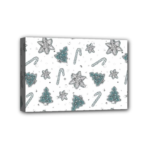 Ginger Cookies Christmas Pattern Mini Canvas 6  X 4