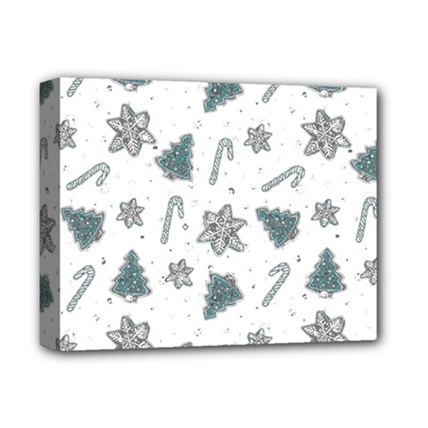 Ginger Cookies Christmas Pattern Deluxe Canvas 14  X 11
