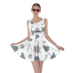 Ginger Cookies Christmas Pattern Skater Dress