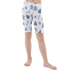 Ginger Cookies Christmas Pattern Kids  Mid Length Swim Shorts