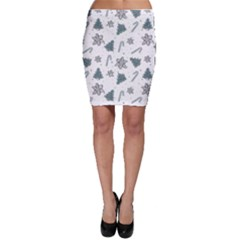 Ginger Cookies Christmas Pattern Bodycon Skirt