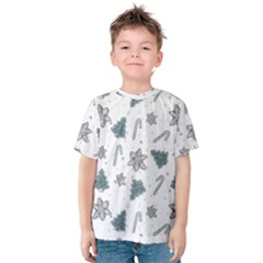 Ginger Cookies Christmas Pattern Kids  Cotton Tee