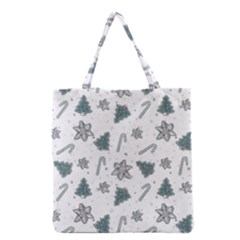 Ginger Cookies Christmas Pattern Grocery Tote Bag