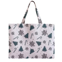 Ginger Cookies Christmas Pattern Zipper Mini Tote Bag