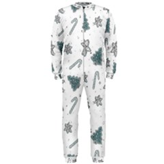 Ginger Cookies Christmas Pattern Onepiece Jumpsuit (men)